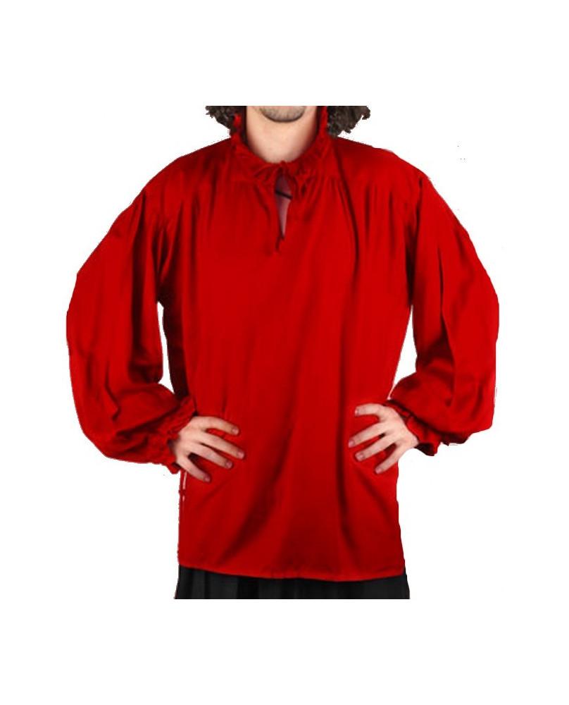 Chemise gothique victorienne rouge
