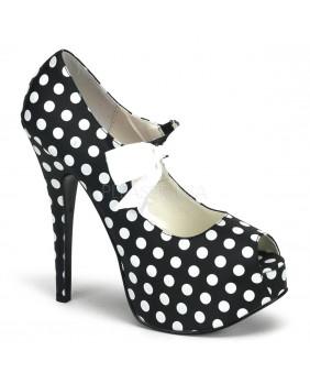 Escarpins noirs et blancs Vintages rétro Bordello TEEZE-25