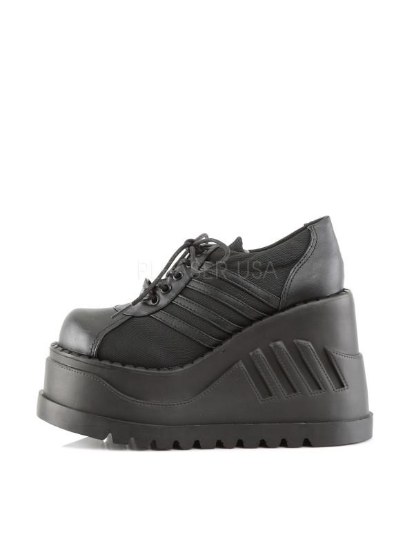 Gothiques Stomp 08 Plateformes Demonia Chaussures Noires PkXuOZiT