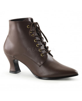 Bottines talons hauts marrons Funtasma VICTORIAN-35