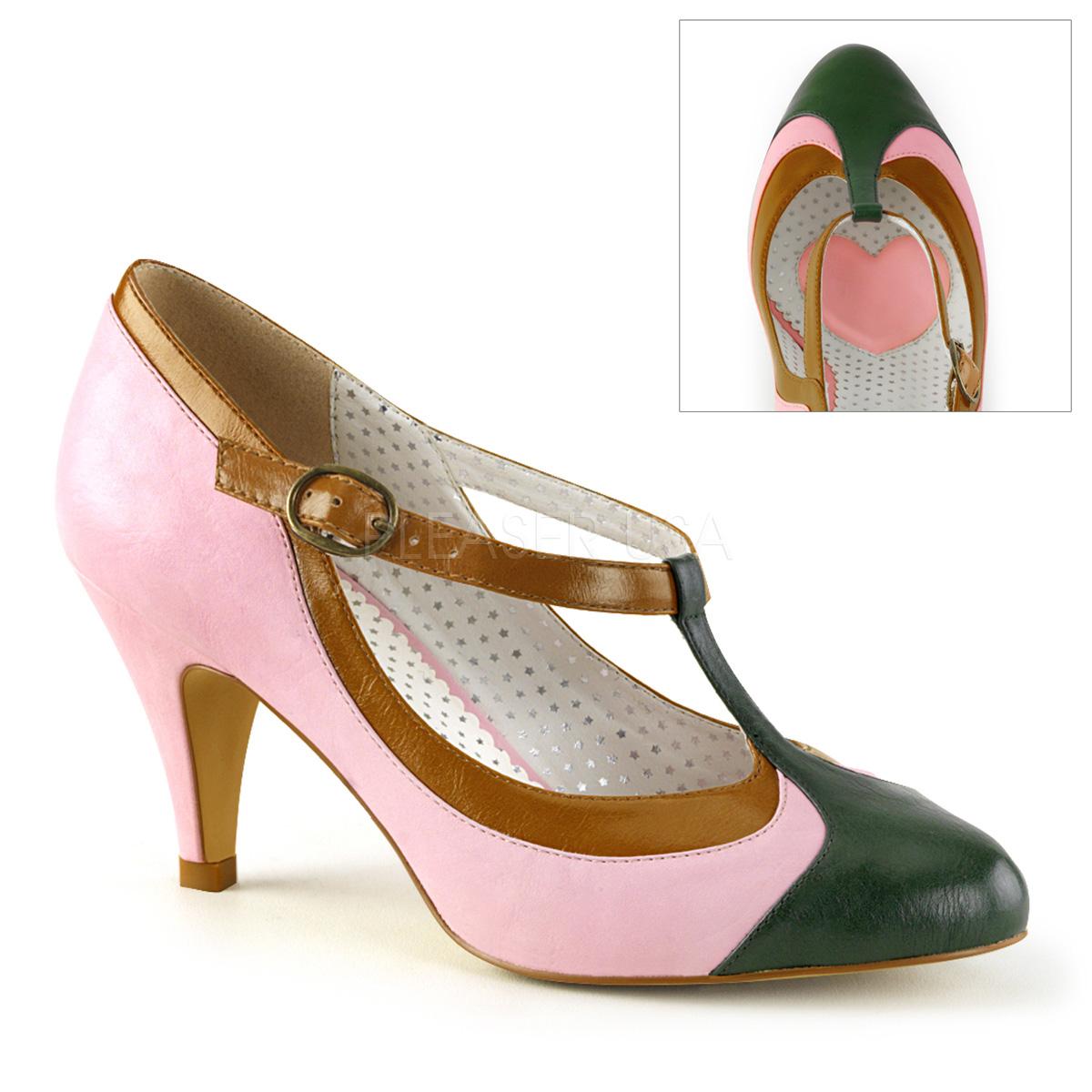 footwear multiple colors where can i buy Pin Up Couture PEACH-03 escarpins Vintages rétro roses et ...