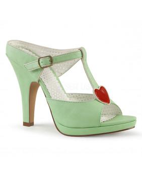 Pin Up Couture SIREN-09 sandales Vintages rétro vertes et rouges à talons hauts