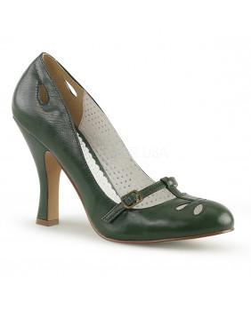 Pin Up Couture SMITTEN-20 escarpins Vintages rétro verts à talons hauts