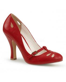 Pin Up Couture SMITTEN-20 escarpins Vintages rétro bordeaux à talons hauts