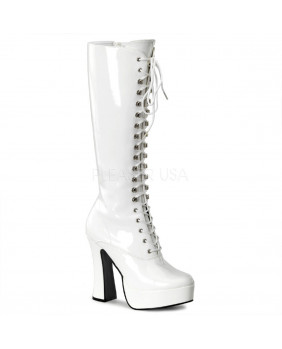 Pleaser ELECTRA-2020 bottes blanches Gothiques