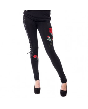 Legging gothique Rose Corset