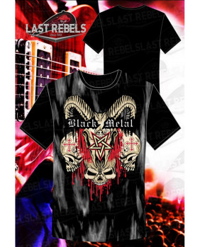 T-Shirt Black Métal