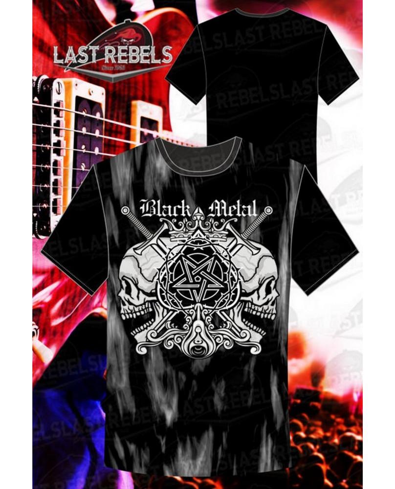 T-Shirt homme noir Black Métal