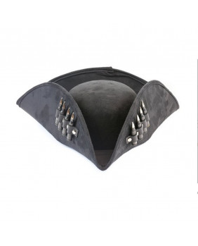 Tricorne noir de pirate