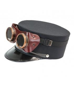 Casquette Steampunk avec goggles