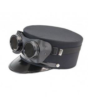Casquette noire avec goggles