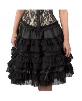 Jupe noire en tafeta Lolita