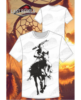 T-Shirt indien guerrier à cheval