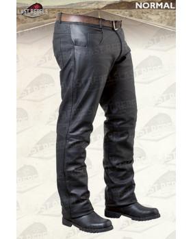 Pantalon cuir de buffle noir pour homme