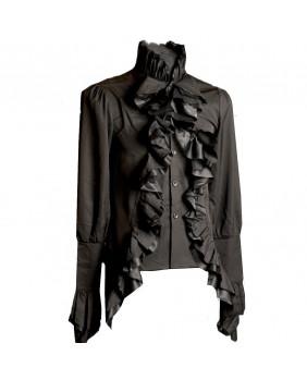 Chemise gothique noire Aristocrate