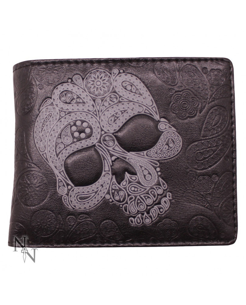 Portefeuille gothique rock Abstract Skull