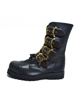 Bottes Steampunk noires et marrons en cuir New Rock ST-268-Z92.Z356