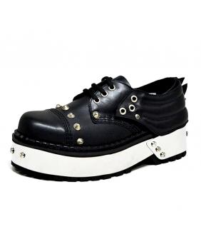 Chaussures Gothiques noires en cuir New Rock ST-251R-Z92