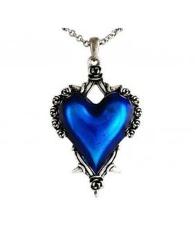 Collier gothique victorien coeur bleu