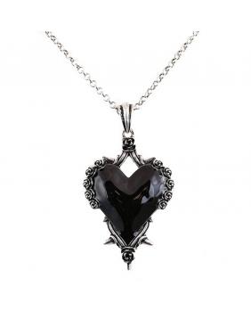 Collier gothique victorien coeur noir