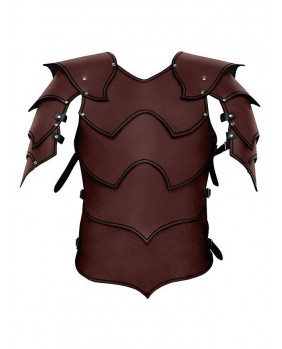 Armure Warlord en cuir marron