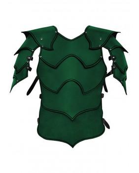 Armure Warlord en cuir vert