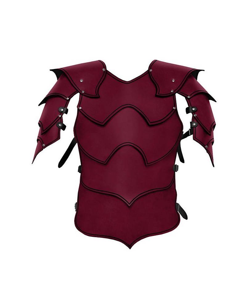 Armure Warlord en cuir rouge