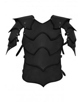 Armure Warlord en cuir noir