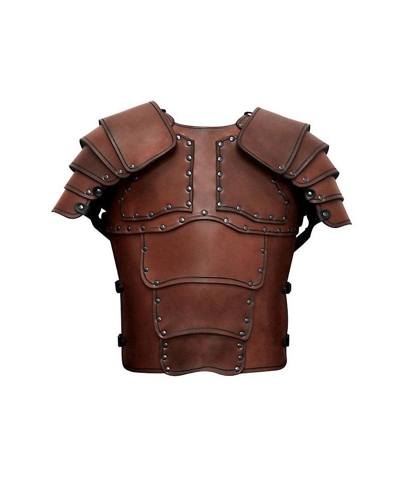 Armure Mercenaire en cuir marron