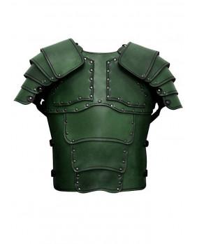 Armure Mercenaire en cuir vert