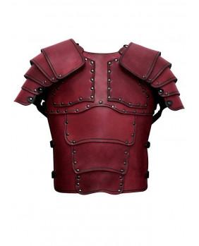Armure Mercenaire en cuir rouge