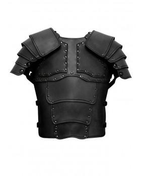 Armure Mercenaire en cuir noir