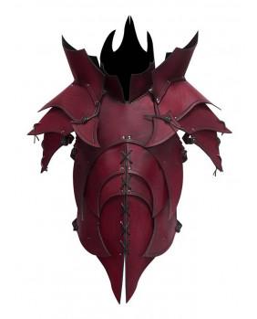 Armure démoniaque en cuir rouge