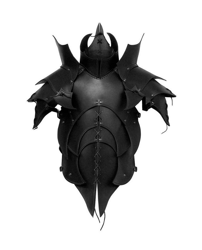 Armure démoniaque en cuir noir