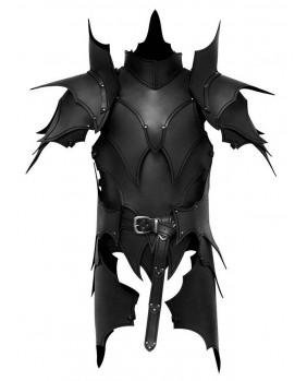 Armure elfique en cuir noir