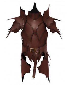 Armure elfique en cuir marron