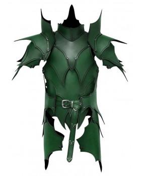 Armure elfique en cuir vert