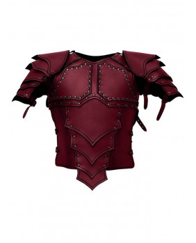 Armure Dragon en cuir rouge