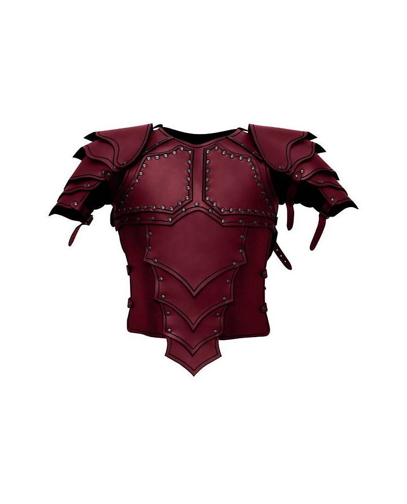 Armure Dragon en cuir rouge
