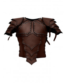 Armure Dragon en cuir marron