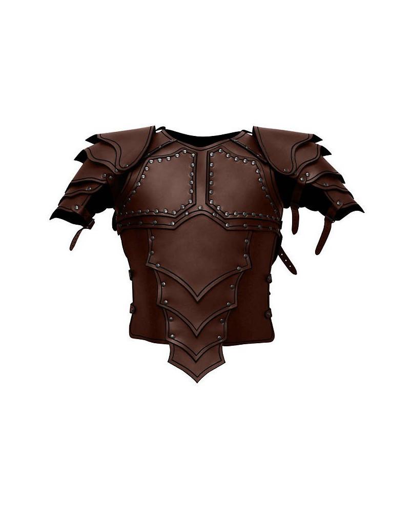 Armure Dragon en cuir marron