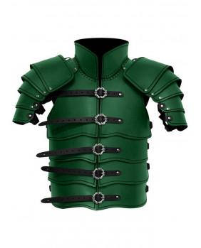 Armure Scout en cuir vert