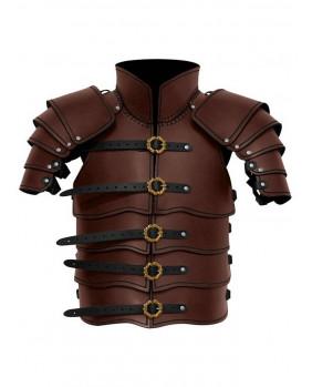 Armure Scout en cuir marron