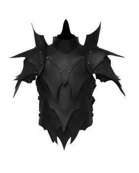 Armure Elfe noir en cuir noir