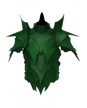 Armure Elfe noir en cuir vert