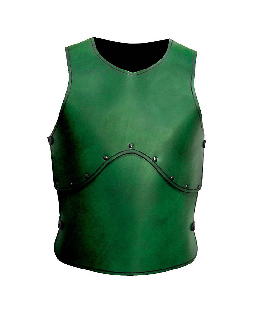 Plastron en cuir vert