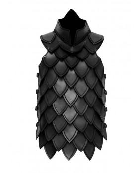 Armure échelle en cuir noir