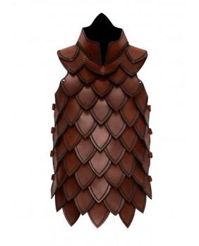 Armure échelle en cuir marron