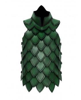 Armure échelle en cuir vert