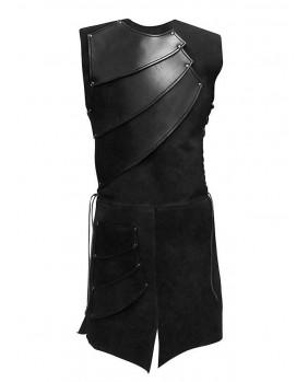 Armure archer en cuir et suédine noire